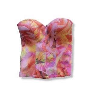 Guess Tropical Bustier Top